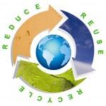 Clean environment - conceptual recycling — Stock Photo