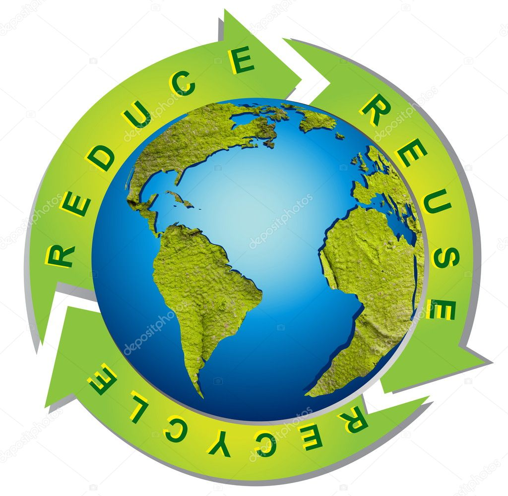 Clean environment - conceptual recycling symbol  Stock Photo #2707183