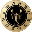 Royalty-Free Stock Vector Image: Horoscope Scorpio