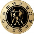 Vector de stock : Horoscope Gemini