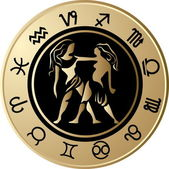 Horoscope Gemini — Vector de stock