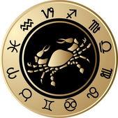 Horoscope Cancer — Stock Vector