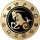 Horoscope Capricorn — Stock Vector