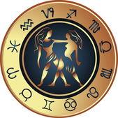 Horoscope gémeaux — Vecteur