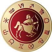 Horoscope Sagittarius — Stock Vector