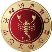 Horoscope Scorpio — Stock Vector
