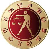 Horoscope Libra — Stock Vector