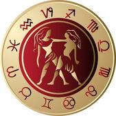 Horoskop blíženci — Stock vektor