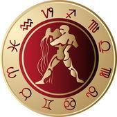 Horoscope Aquarius — Stock Vector