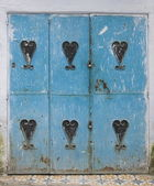 Zeer oude houten deur van Marokko — Stockfoto