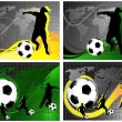 Set of Football background — Imagens vectoriais em stock