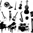 Music instrument vector — Stockvektor