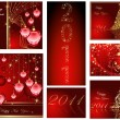 Merry Christmas and Happy New Year collection - Imagen vectorial
