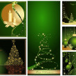 Merry Christmas and Happy New Year collection — Imagens vectoriais em stock