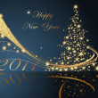 Merry Christmas and Happy New Year collection - Vettoriali Stock