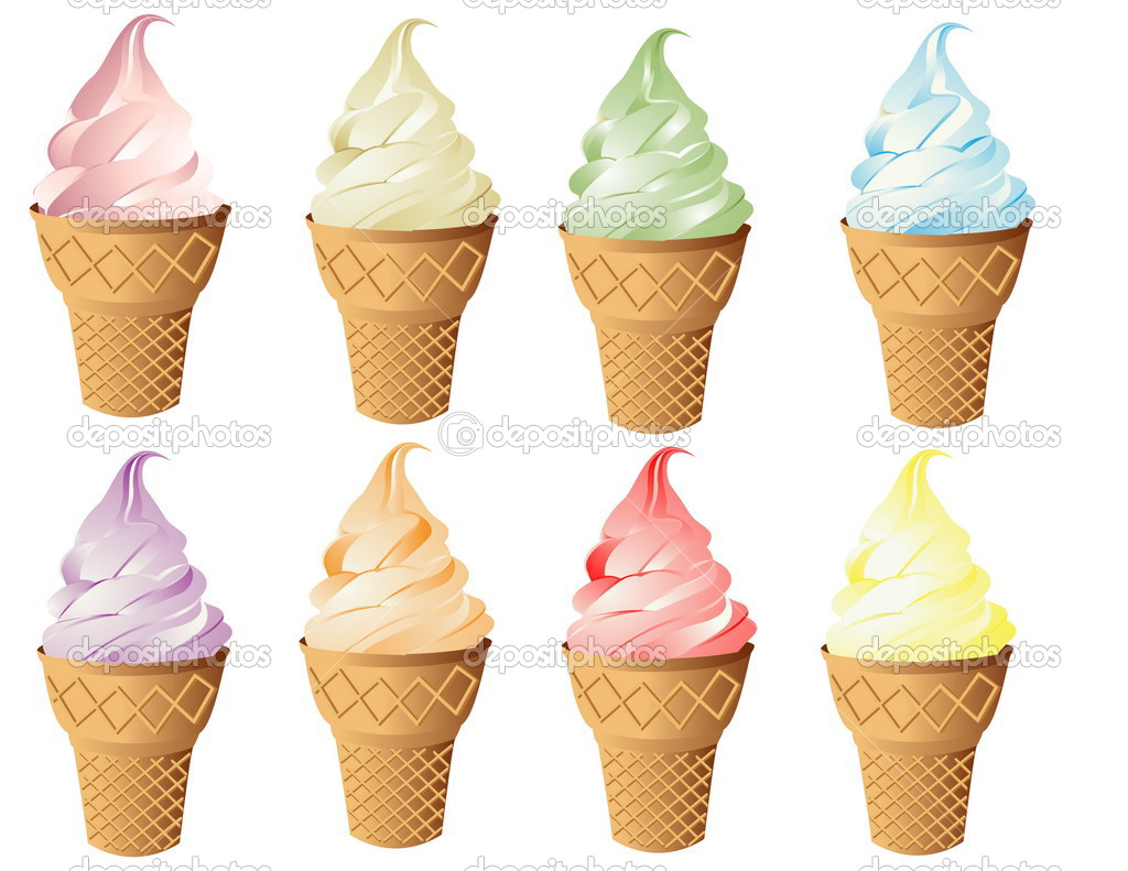 Ice cream. Collection of vector  illustration  Stock Vector #3580653