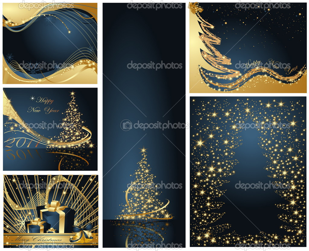 Merry Christmas and Happy New Year collection — Stock Vector #3581148