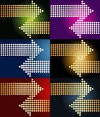 Collection of arrows — Stock Vector