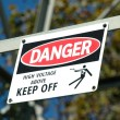 Stock Photo: Danger - High Voltage