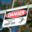 Stockfoto: Danger - High Voltage
