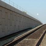 Commuter rail siding — Stock Photo