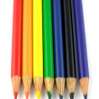 Stock Photo: Rainbow pencils