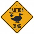 Caution Goose Crossing - Stok fotoğraf