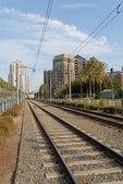 Trolley tracks — Stock Photo