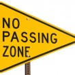 No Passing Zone — Stock Photo #3203498