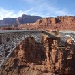 Colorado River bridges - Stock Photo