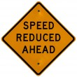 Speed Reduced Ahead — Stock Photo
