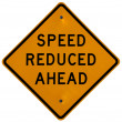 Stock Photo: Speed Reduced Ahead