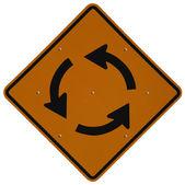 круг движения вперед — Стоковое фото