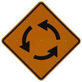 Traffic Circle Ahead — Stock Photo