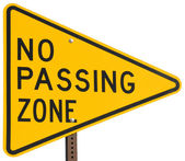 No Passing Zone — Stock Photo