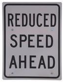 Reduced Speed Ahead — Stock Photo