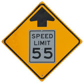 Speed Limit Drops — Stock Photo