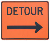 Detour Right — Stock Photo