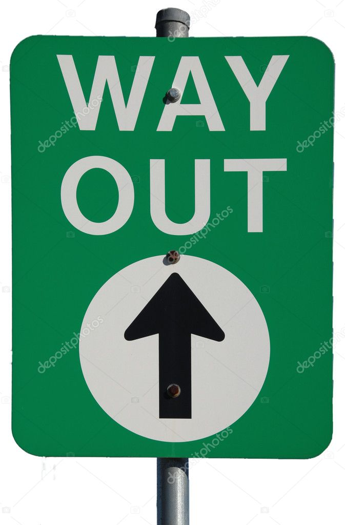 Australian Way Out (Exit) road sign  — Stock Photo #3307421