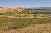 Marsh & hills — Stock Photo