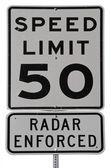 Speed Limit 50 — Stock Photo