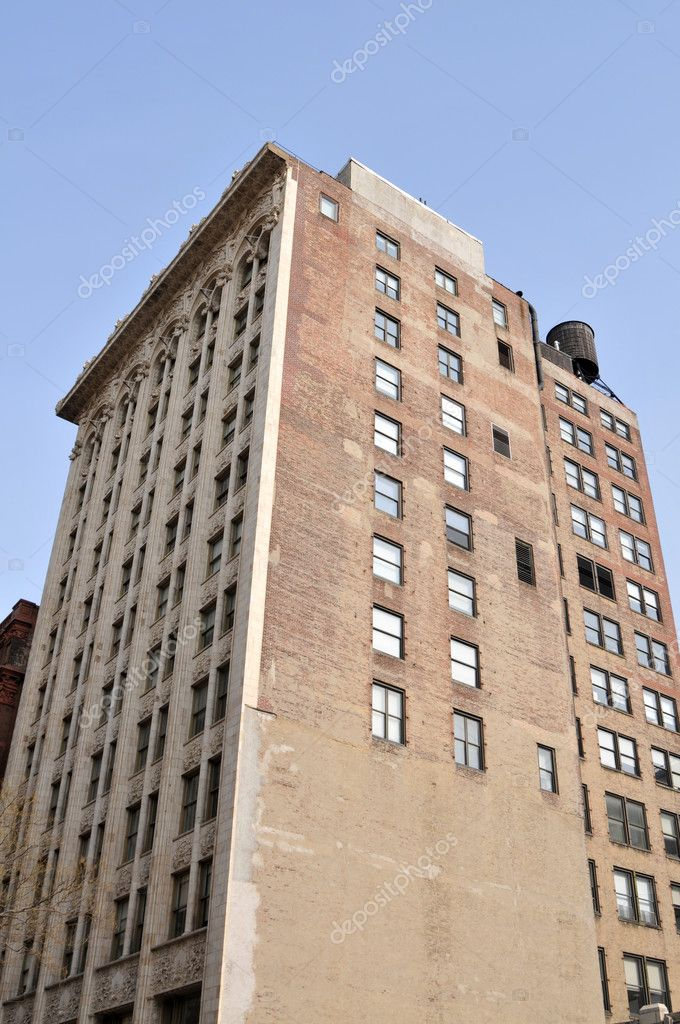 Old brick office building, midtown Manhattan, New York, New York — Stock Photo #3994051