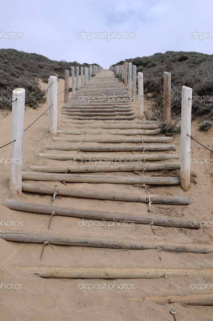 Beach stairway, Baker Beach, San Francisco, California — Stock Photo #4002446