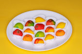 Marzipan fruits — Stock Photo