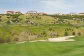 高尔夫球场的家园 — 图库照片
