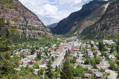 A view from above of Ouray, Colorado — Zdjęcie stockowe