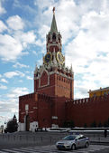 Spassky tower of the Moscow Kremlin — 图库照片