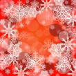 Snowflake Background - Red — Stock Photo