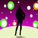 A girl on disco — Stock Photo