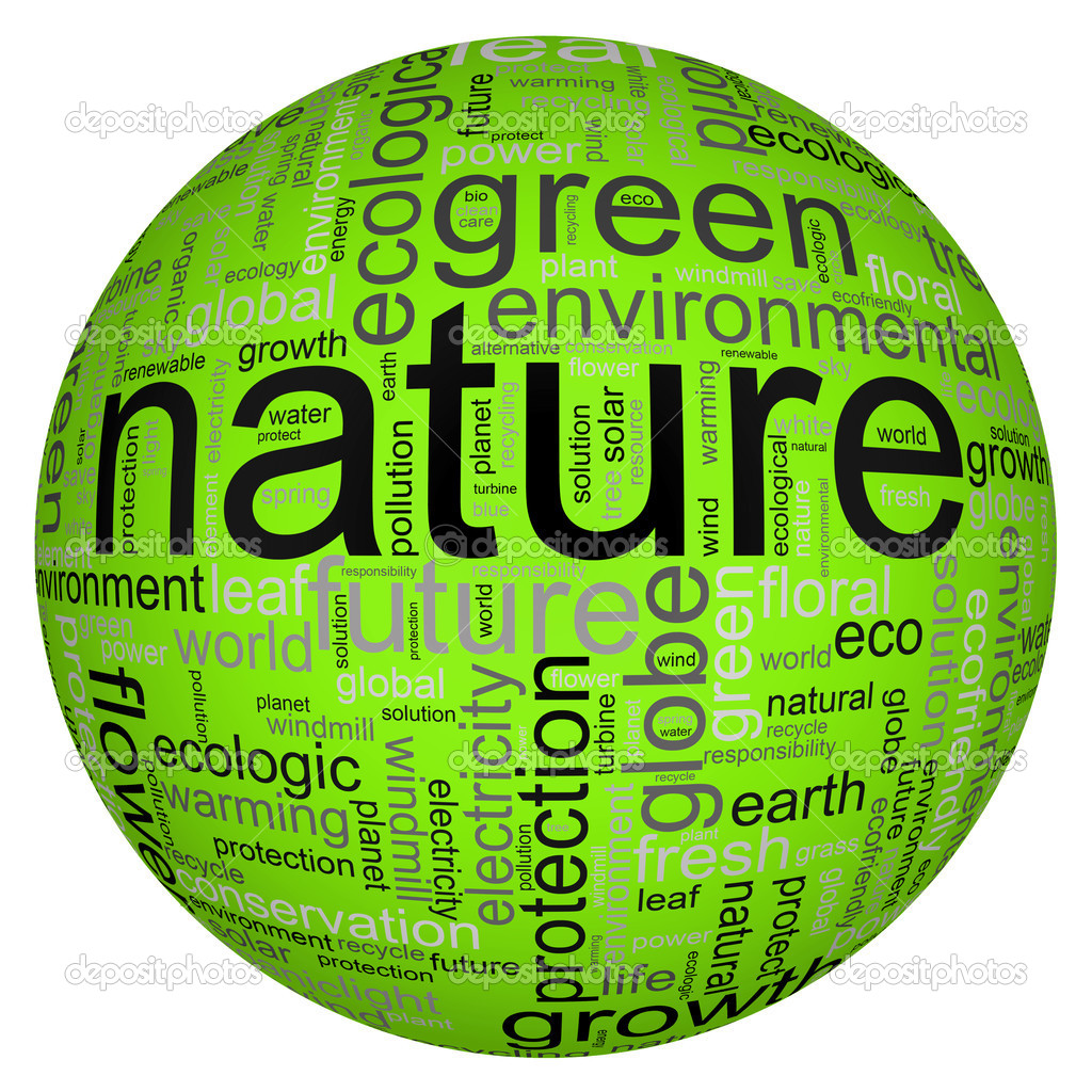 Nature illustration with many different terms like nature or world — ストック写真 #2729876